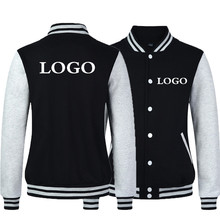 New Fashion Men/Boy Baseball Jacket LOGO DIY Customized Design Sweatshirt Sportswear Clothes Men Coat Bomber Jackets Free ship