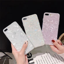 Glitter Shell Pattern Case For iphone X XS Max XR Back cover For iphone 6 6S 7 8 Plus 7plus 8plus X S Soft TPU Cover glossy soft tpu back case shell for iphone 6 plus 6s plus dreamcatcher pattern