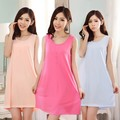 Wholesale Woman Sleepwear Summer Sexy Sleeveless Suit-dress Girl Nightgown Sweet Beloved Daughter Comfortable Cotton Nightdress