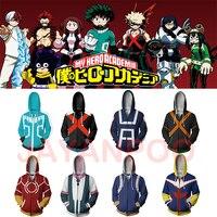 JAYANPOO Fashion My Hero academia Anime Cosplay Costumes Sweatshirt zipper Hoodie My Hero Academy Halloween accessory costume