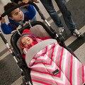 Детские спальные мешки Коляска ног набор зима теплая муслин пеленать новорожденного конверт хлопка blanketdekentje kinderwagen wrap