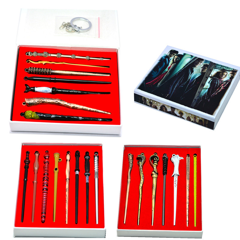 Potter Voldemort Magic Wand Set Creative Tricks Kids Toys Halloween Cosplay Props Gift Box Packing