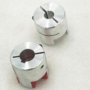 Image 2 - Бесплатная доставка CNC Гибкая Губка Паук Слива Соединительная муфта вала D40 L65 мм 14/17 мм с keyway 5 мм на одном конце