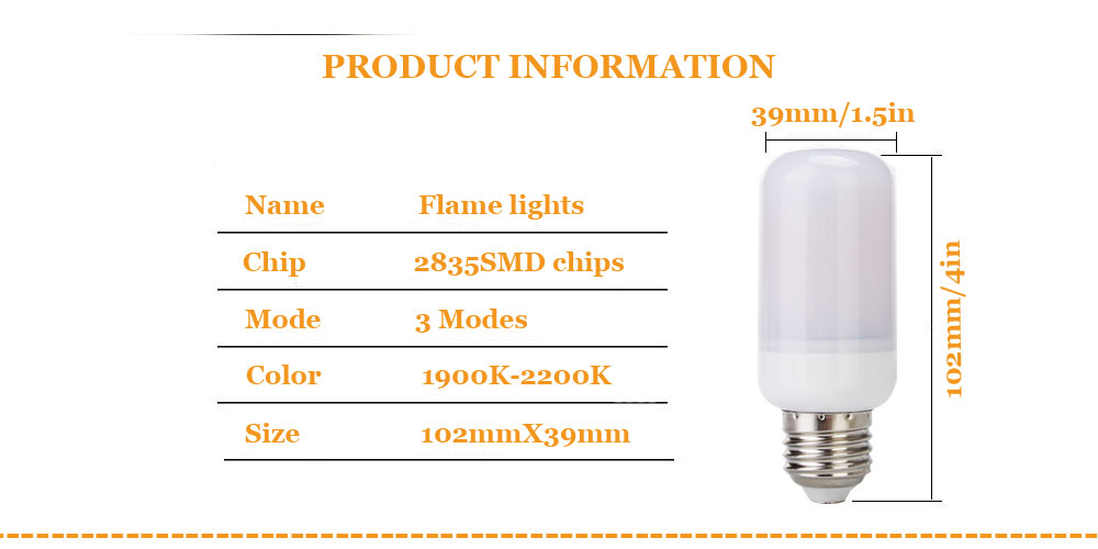 Dbao RP0369 LED Flame Lights Bulbs  -us (17)
