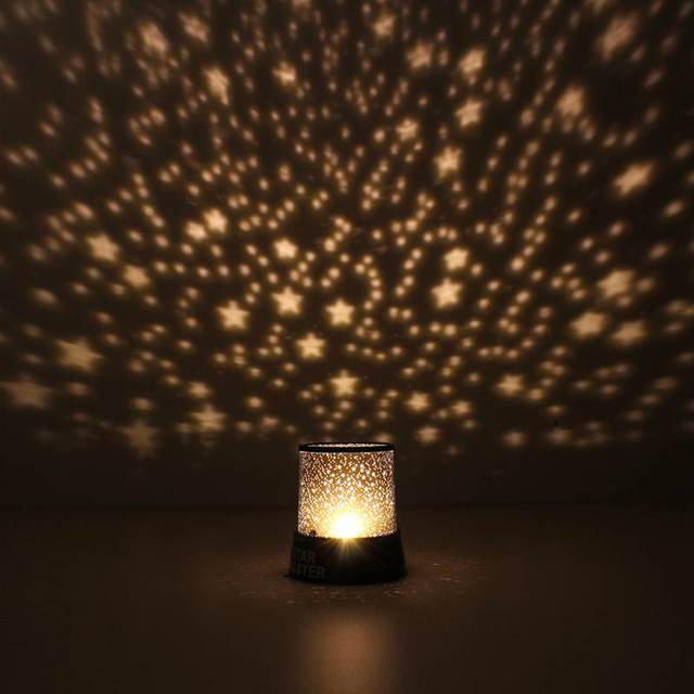 Battery Power Colorful LED Night Light Lamp Romatic Star Sky Master Starry Night  Lamp Projector For