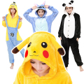 Unisex Women Cartoon Pajamas Animal Onesie Pikachu Stitch Minion Panda Anime Cosplay Pajamas Funny Pajamas Adults;pijama pareja