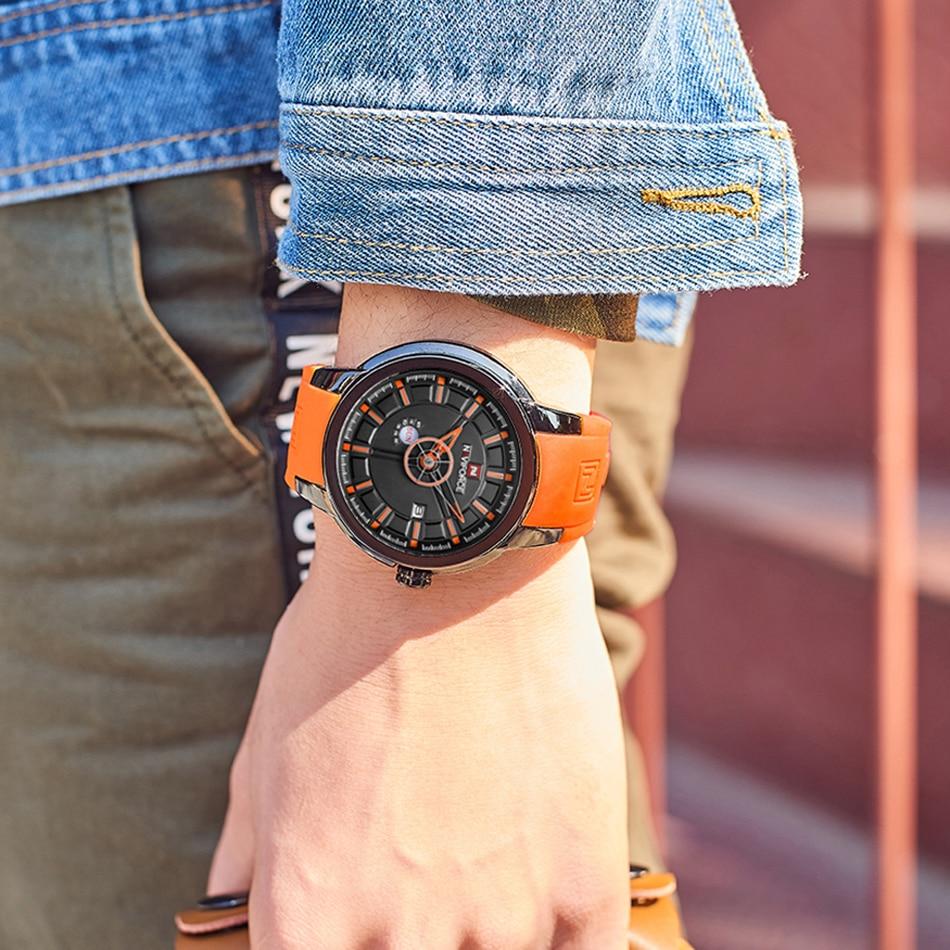 NAVIFORCE 2018 New Arrival Men Quartz Watch Silicone Fashion Watches Waterproof Shockproof Man Sport Wristwatch Relogio Masculio