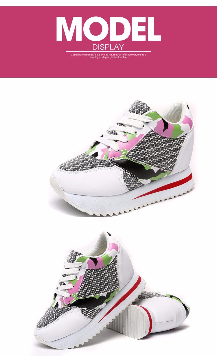KUYUPP 2016 Fashion 4cm Hide Heels Women Casual Shoes New Breathable Mesh Flat Platform Women Shoes High Top Wedges Shoes YD108 (11)