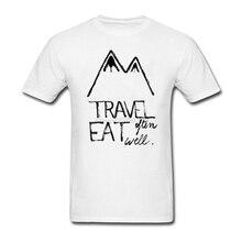Geek Travel Often Eat Well Tees Shirt Men Male Custom Cotton Short Sleeve Big Size Group Tee Shirts