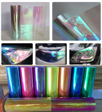 0.3x9m(1x3ft) Chameleon Neo Clear Headlight Taillight Fog Light Vinyl Tint Film DHL Free Shipping
