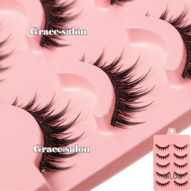 Acrylic Series Fashion Makeup Natural False Eye Lashes Long Thick Eyelashes Long 2