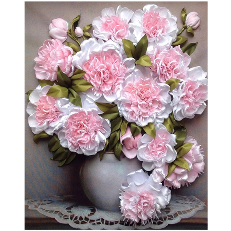 5D DIY full round diamond painting embroidery pink rose flower cross stitch diamond mosaic rhinestone home decoration in Diamond Painting Cross Stitch from Home Garden