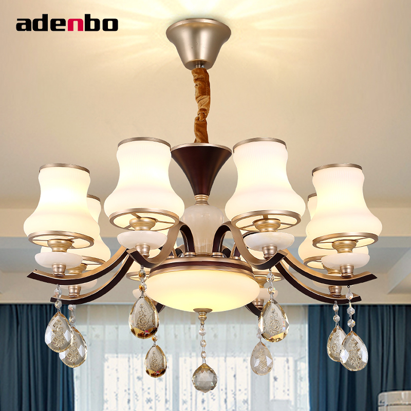 Luxury Modern Crystal Chandeliers Wrought Iron Led