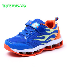 New Fashion Childrens Boys Running Shoes Breathable Mesh Kids Boy Damping Teenager Sport Brand Sneakers