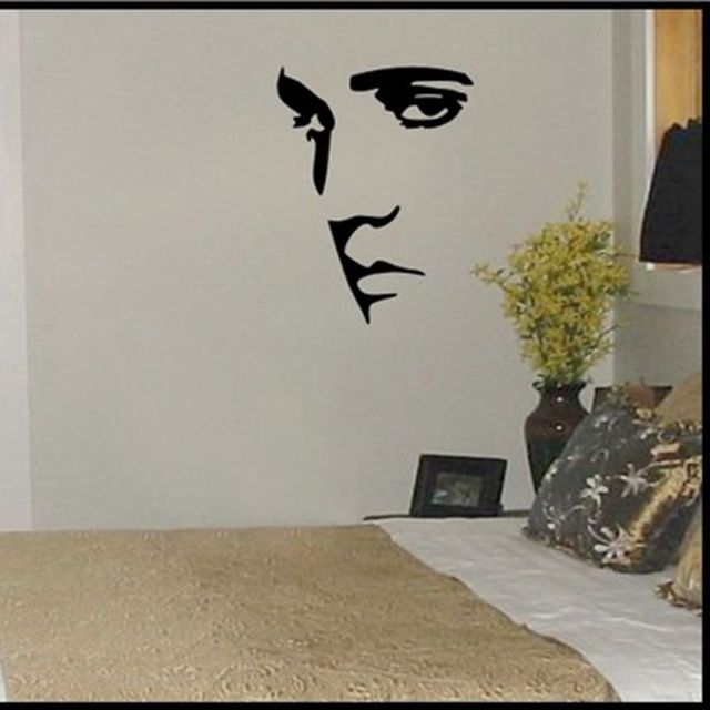 Diamond Embroidery DIY ELVIS PRESLEY Wall Decal Sticker Silhouette - How to make vinyl wall decals with silhouette
