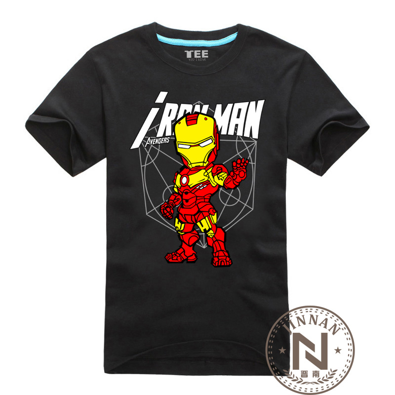 Iron man t shirt men boy boy t shirt cartoon the the Boys superhero t shirts