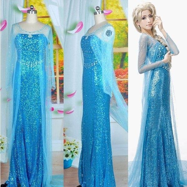 Cartoon Movie Princess Elsa Cosplay Costume Adult Women ...