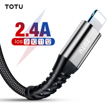 TOTU USB Cable For iPhone Xs Max Xr X 8 7 6 6s Plus SE 2.4A Fast Charging Charger Data Cable Cord Adapter Mobile Phone Cable цена и фото