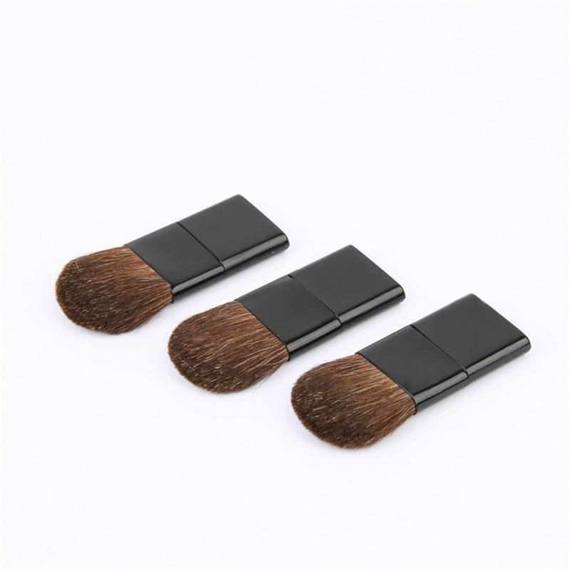 KESMALL 1Pc Flat Makeup Brush Blusher Powder Brushes Synthetic Hair Short Handle Face Cosmetic Beauty Tools Mini Size CO887