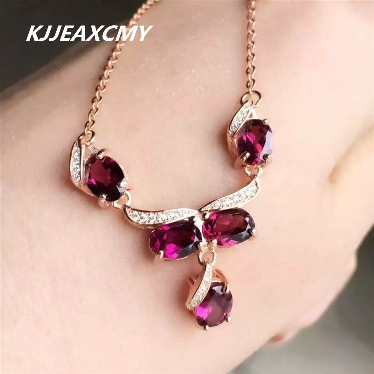 KJJEAXCMY Fine jewelry, Magnesium alloy female necklace pendant, natural stone, S925 sterling silver, rose goldKJJEAXCMY Fine jewelry, Magnesium alloy female necklace pendant, natural stone, S925 sterling silver, rose gold