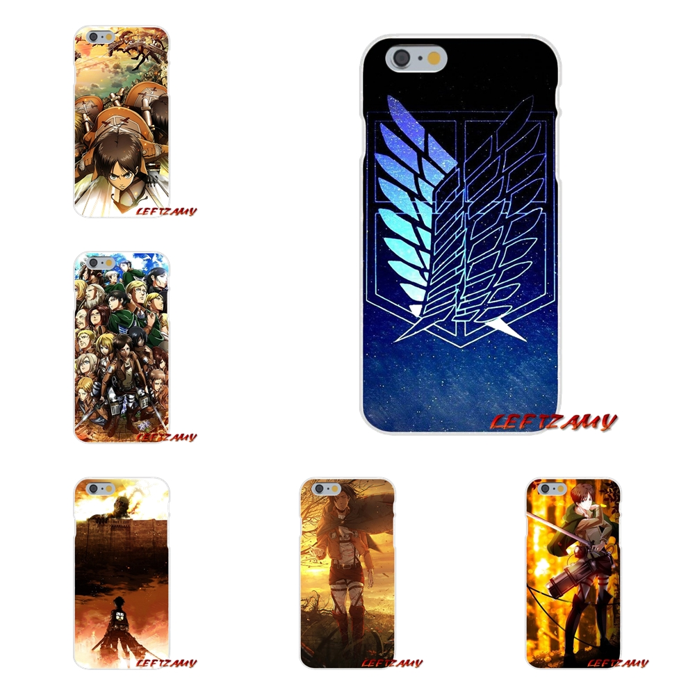 For Samsung Galaxy S3 S4 S5 MINI S6 S7 edge S8 S9 Plus Note 2 3 4 5 8 Anime Japanese attack on Titan Transparent TPU Cases Cover