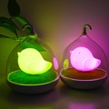 Night Lamp Cute Birdcage lamp  Touch Sensor USB LED Lights/ Sound control  USB charging For Baby Bedroom Sleep Lighting