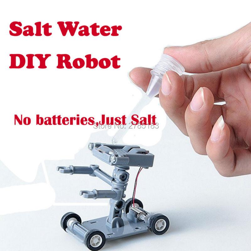 Bau Roboter Powered Kit DIY Spielzeug Wissenschaft und Technologie Spielzeug Salz Wasser Roboter Experiment Pädagogisches Spielzeug für kinder