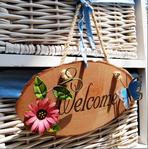 NEW Free shipping garden style colorful welcome sign/ door board/ wooden welcom sign/ & NEW Free shipping garden style colorful welcome sign/ door board ...