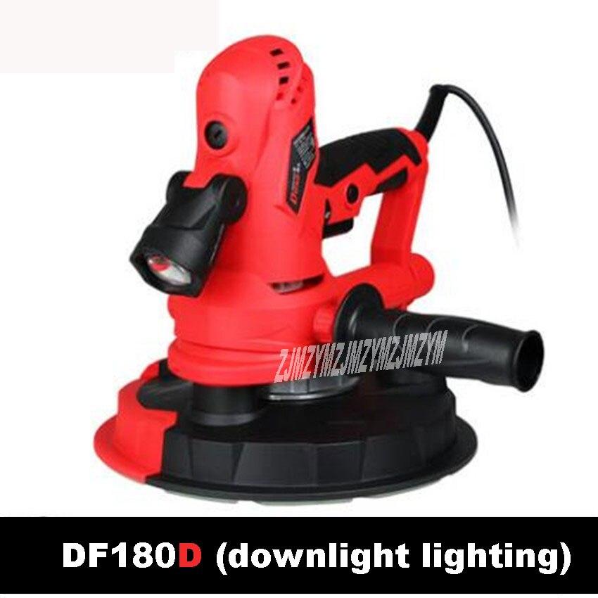 New DF180D Downlight Wall Surface Grinding Machine HandHeld Electric Drywall Sander Machine 1200-2300r/min 220V/50Hz 800W 180MM