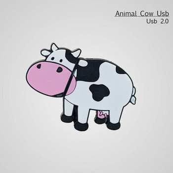 Real Capacity Dairy Cow USB Flash Drive Pen Drive 4GB 8GB 16GB 32GB 64GB USB 2.0 Memory Disk Pendrive USB Stick