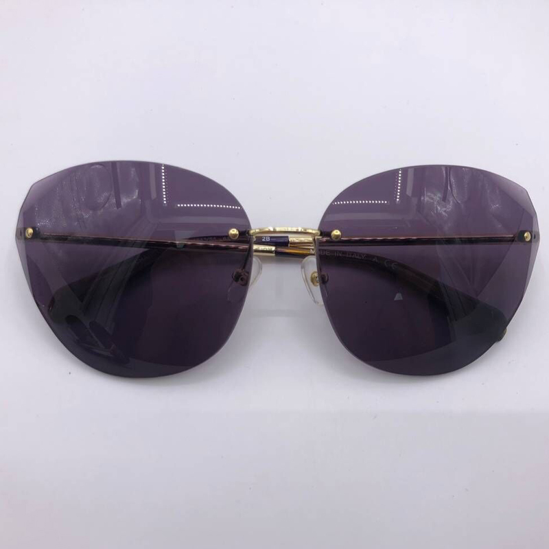 Fashion Designer Rimless Sunglasses Luxury Brand Oval Shades for Women Mens Oculos De Sol Feminino UV400 Protection with Case