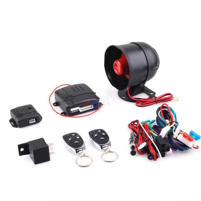 Imobilizador de carro Uma Maneira Sistema de Alarme de Carro Veículo Protec ção do Assaltante Sistema de Segurança Keyless Entry Siren + 2 Controle Remoto