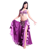 Free shipping New top grade high quality belly dance set/ costume/belly dancing clothes/bellydance skirt dress 18001Clover