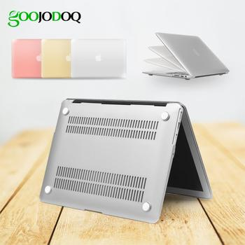 GOOJODOQ Hard Protective Laptop Cover Case for MacBook Air 13 15 A1932 2018 11 12 Retina 14 inch for Mac book Pro 13 Case Shell