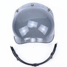 Professional 3-snap open face helmet visor vintage motorcycle helmet bubble shield Harley Helmet Extra Helmet Windshield