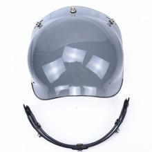 Profesional 3-snap open face casco visera del casco de la motocicleta de la vendimia escudo burbuja Harley Casco Casco Extra Parabrisas