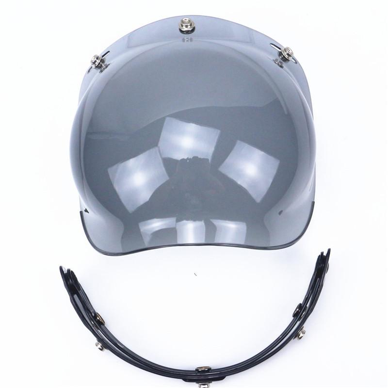 Prix pour Professionnel 3-snap open face casque visière vintage moto casque bulle bouclier Harley Casque Supplémentaire Casque Pare-Brise