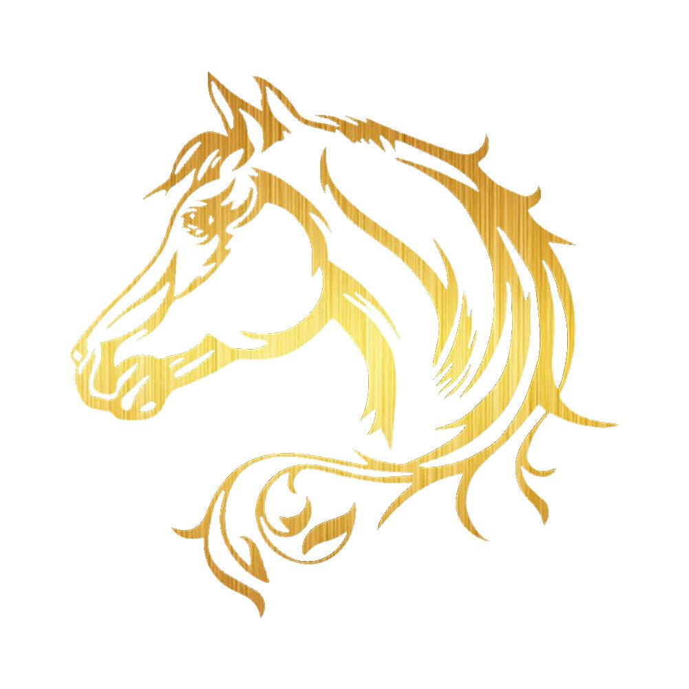 Horse Head Car SUV Vehicle Body Window Reflective Decals Sticker Decoration