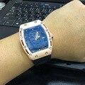 Marca de moda de Lujo Relojes Unisex Cráneo Kito Relojes Reloj Reloj de Los Hombres Esqueleto De Goma Top Mujeres Wristwatche Quartzwatch