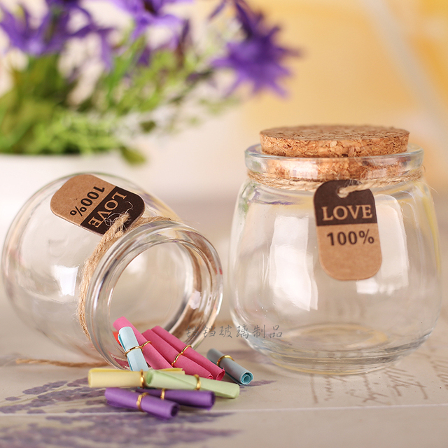 10pcs Diy Levitation Bottle For Pudding Jam Jar Mini Gl Bottles With Corks Clear 100ml Milk