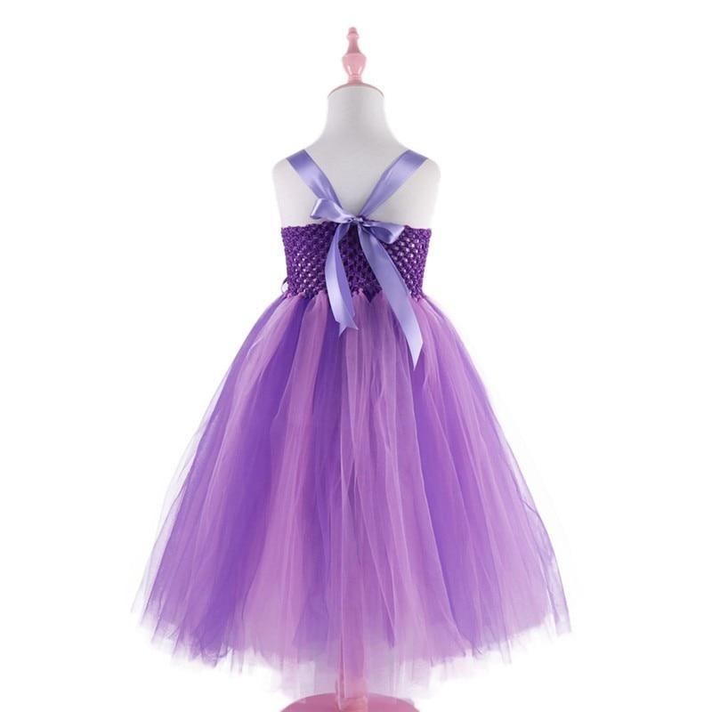 Moeble Mor Ayak Bileği uzunlukta Kız Çiçek Elbiseler Çocuklar - Çocuk Giyim - Fotoğraf 5