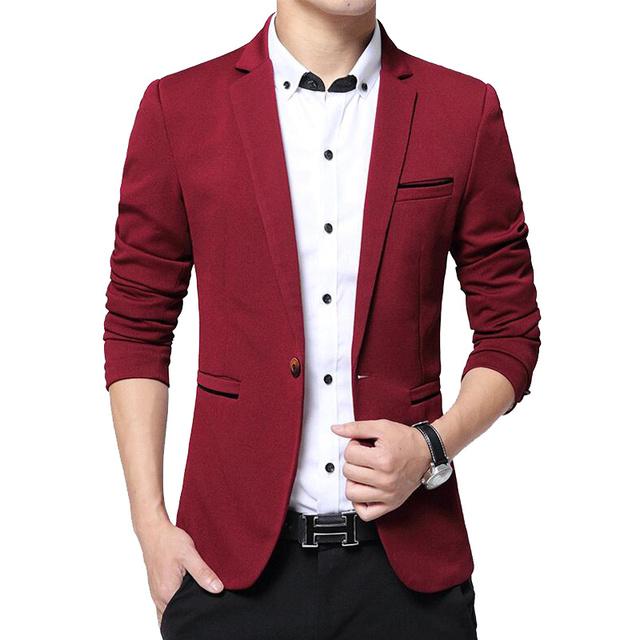 Slim Fit Casual Blazer jacket Male Coat
