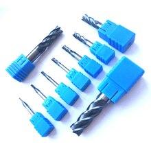 1 шт. 1 мм 2 мм 3 мм 4 мм 5 мм 6 мм 8 мм 10 мм 12 мм 4 флейт карбида концевые фрезы cnc HRC45 Спираль Бит фрезерные инструменты фрезы для контурной обработки