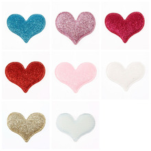 Yundfly 10pcs Fashion Glitter Love Heart Shape Hair Accessories for DIY Baby Girls Headband Kids Hairband