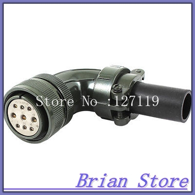 цена на AC 500V 13A 9 Pin 9P Female Cable Aviation Plug Elbow Connector Joint Coupler