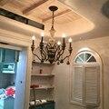 Led люстра европейских и американских Стиль Ретро освещение Кованые люстры ресторан кафе американский освещение люстра для кухни модерн люс...