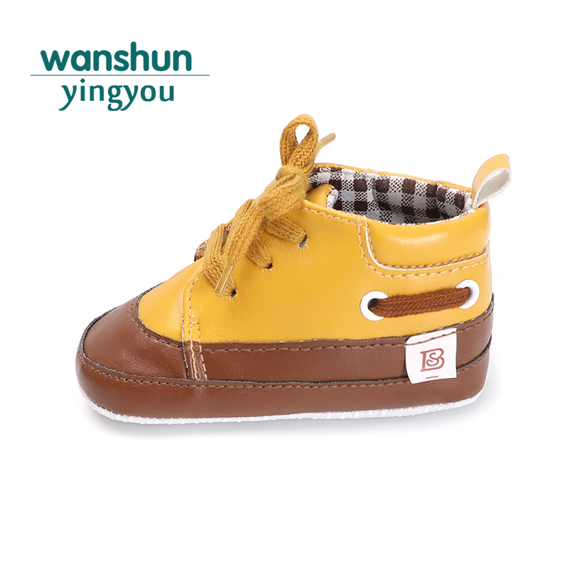 baby shoes boy girl crib shoes newborn 0-18 months toddler infant pu leather anti-slip sneaker moccasins lace up cute bebe cute