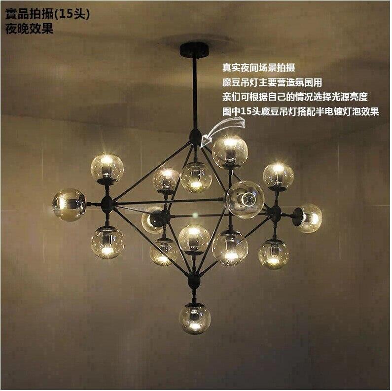 15 главы подвеска лампа метеоритный дождь вручение подвесной светильник звездопад лестниц Свет Droplight Освещение