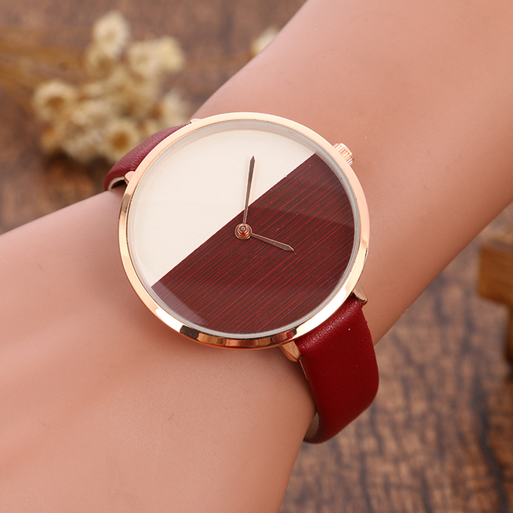 New Fashion Watch Women Retro Digital Dial Leather Band Quartz Analog Wrist Watch pu leather band women s quartz analog wrist watch yellow