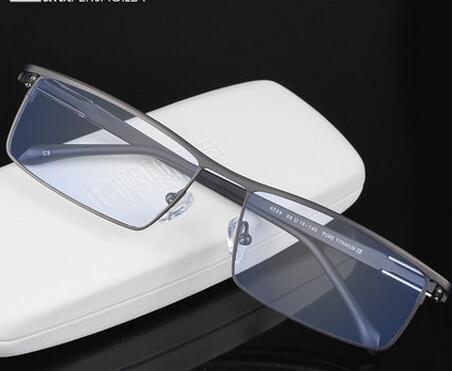 Titanium glasses myopia men's glasses frame myopia male glasses with finished eyes big face wide face glasses frame male